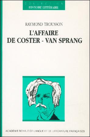 L'Affaire De Coster | Van Sprang