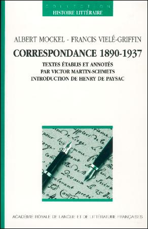 Correspondance 1890-1937