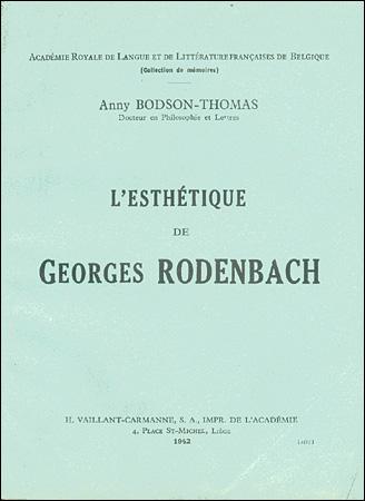 L'esthétique de Georges Rodenbach