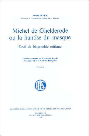 Michel de Ghelderode ou la hantise du masque