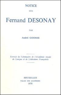 Notice sur Fernand Desonay