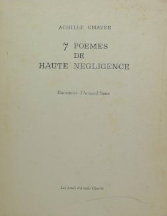 7 Poèmes de Haute Négligence