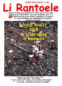 Li Rantoele - L° 84  - 1-2018  - ivier 2017-2018  - Boune anêye 2018 et totès sôres di bouneurs