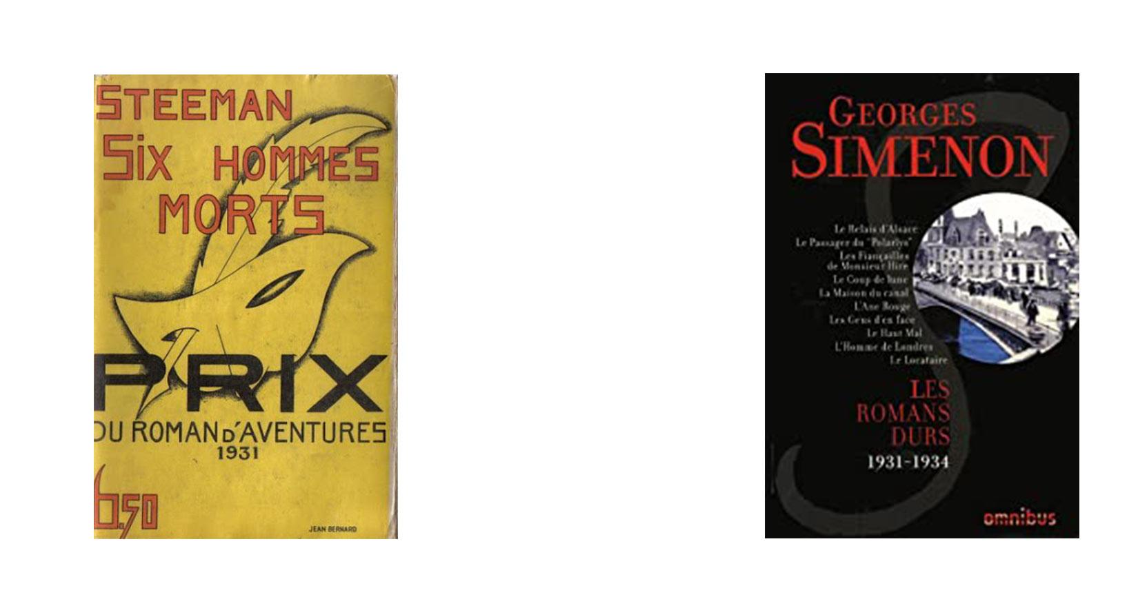 Steeman et Simenon : deux auteurs emblématiques du roman policier belge
