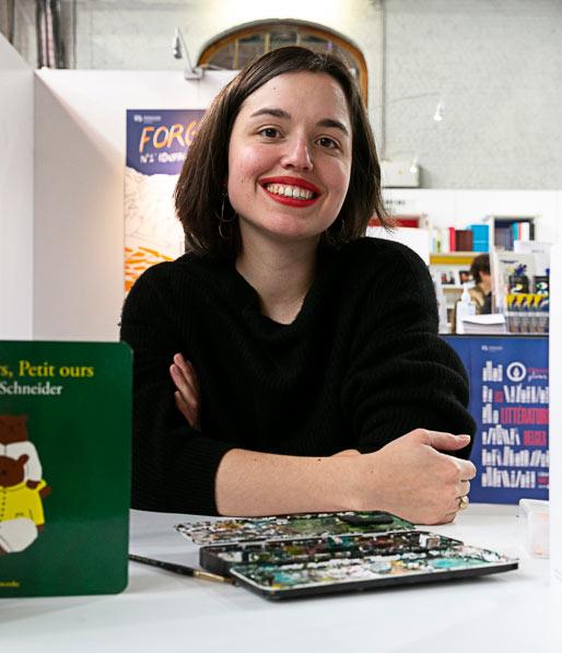 l'autrice et illustratrice jeunesse Marine Schneider, publiée chez Versant Sud et Cambourakis
