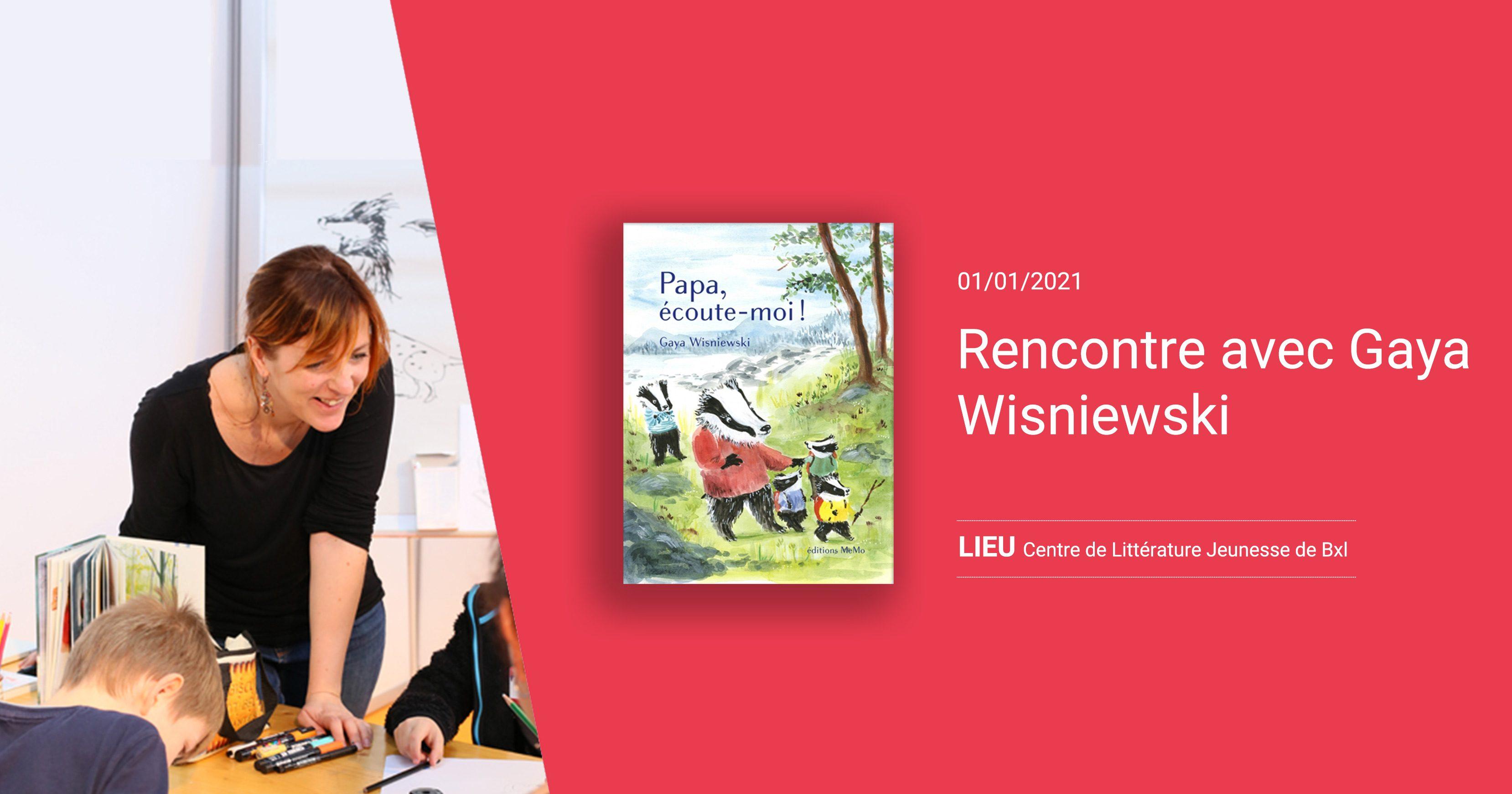 Rencontre avec l'autrice-illustratrice Gaya Wisniewski