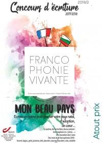 Francophonie vivante - 2  - 2018  - Atout prix