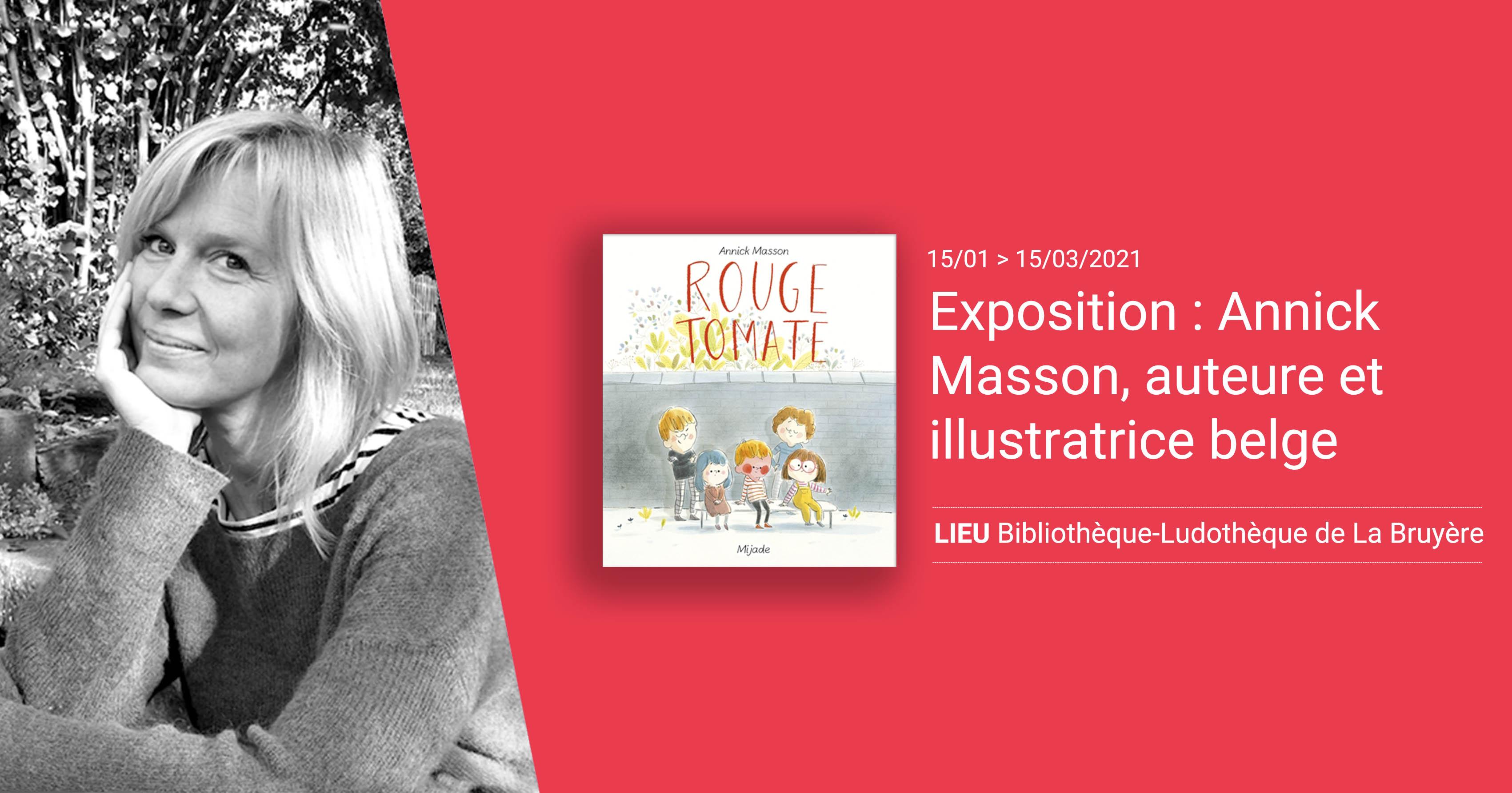 Exposition : Annick Masson, auteure et illustratrice belge