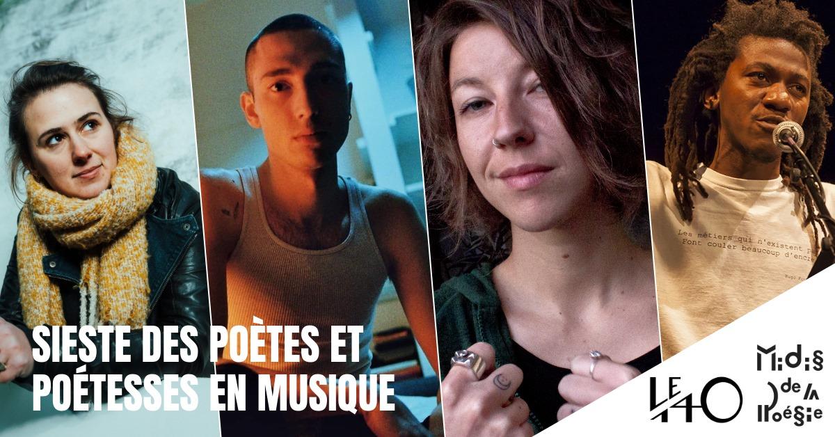 Sieste des poètes et poétesses en musique