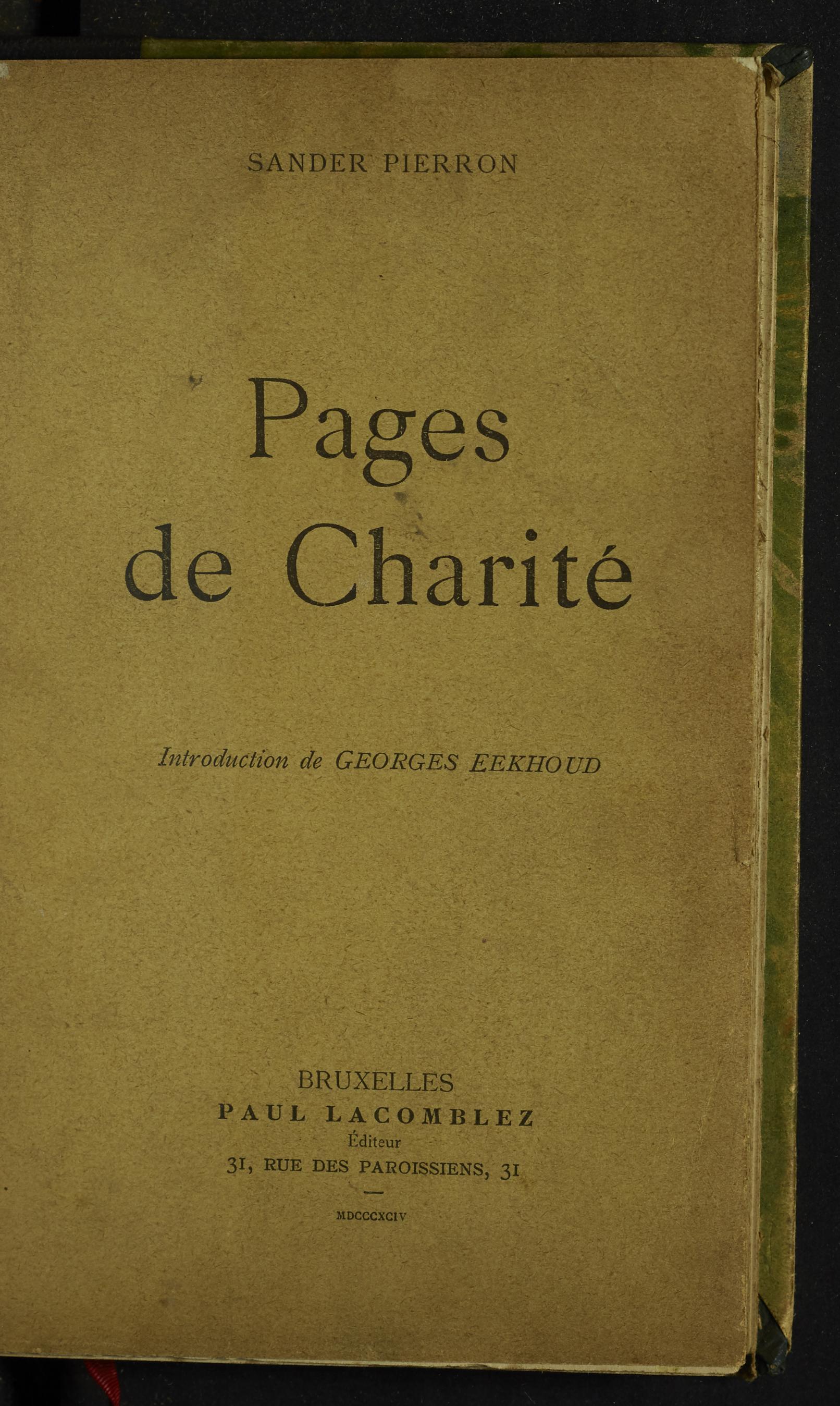 Pages de charité