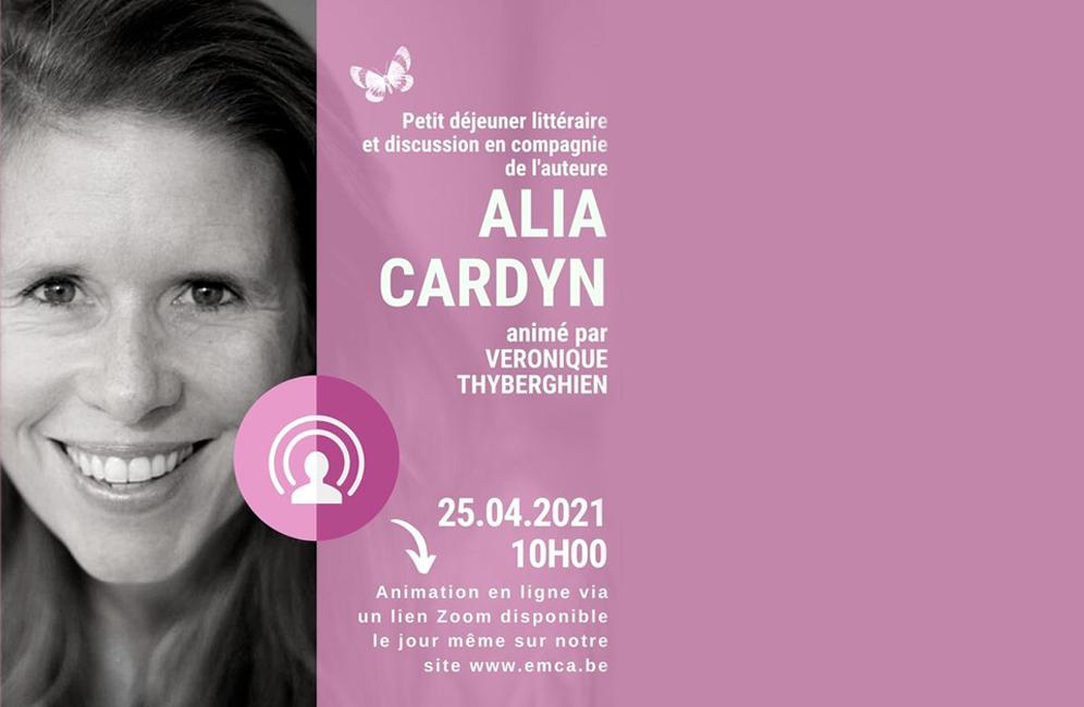 Petit déjeuner littéraire en ligne avec Alia Cardyn