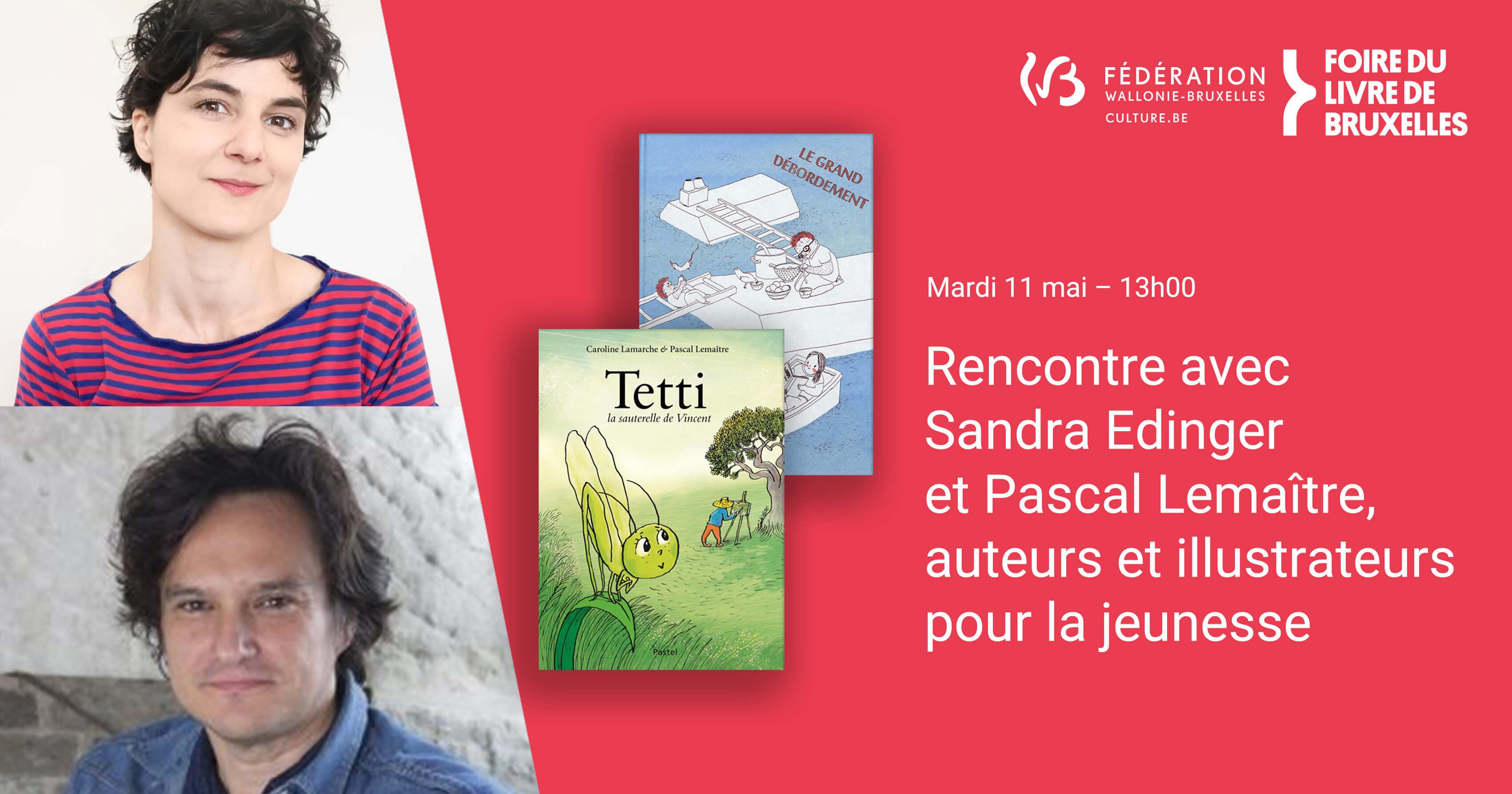 Rencontre avec Sandra Edinger et Pascal Lemaître, auteurs et illustrateurs pour la jeunesse