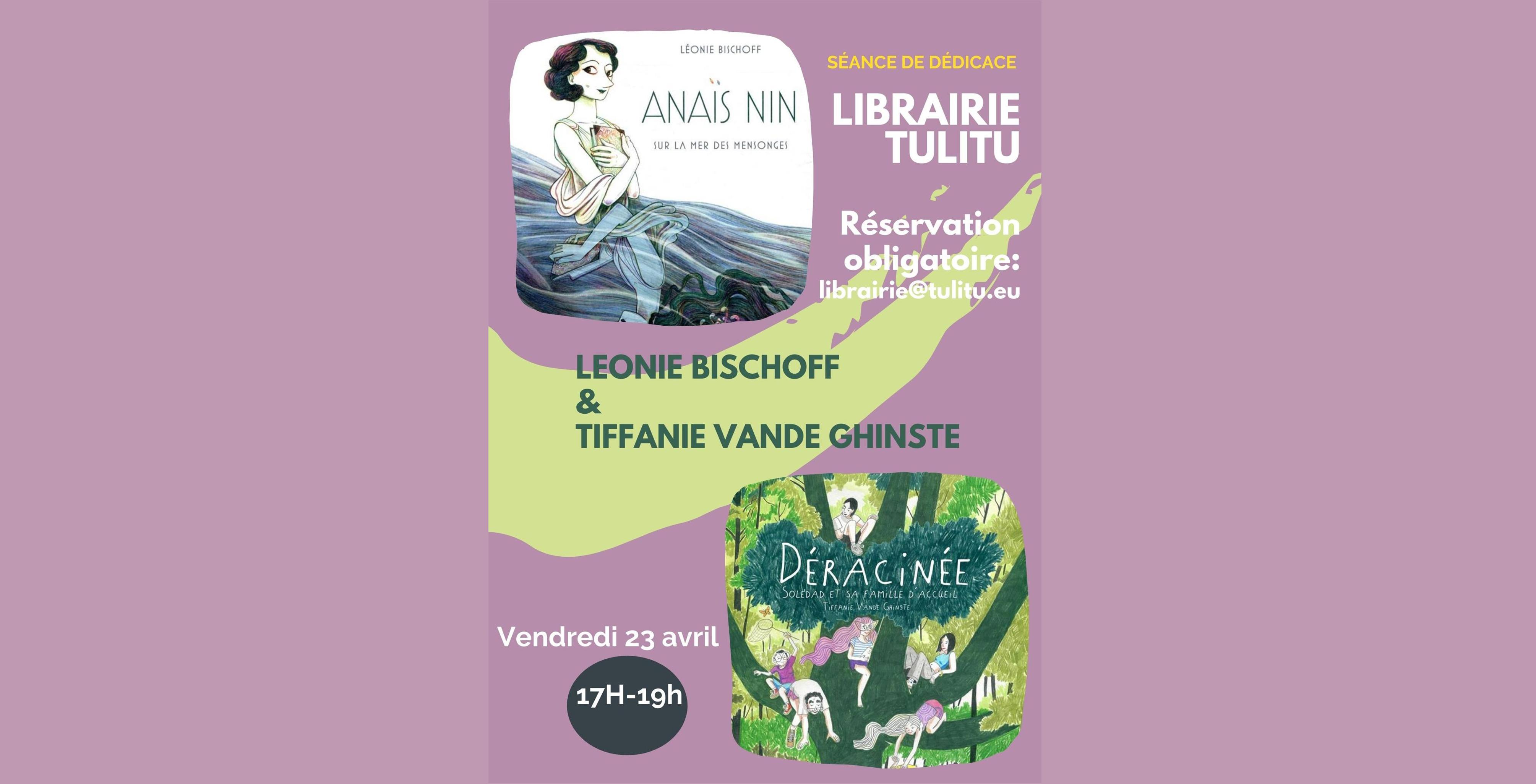 Séance de dédicace avec Léonie Bischof et Tiffanie Vande Ghinste chez Tulitu