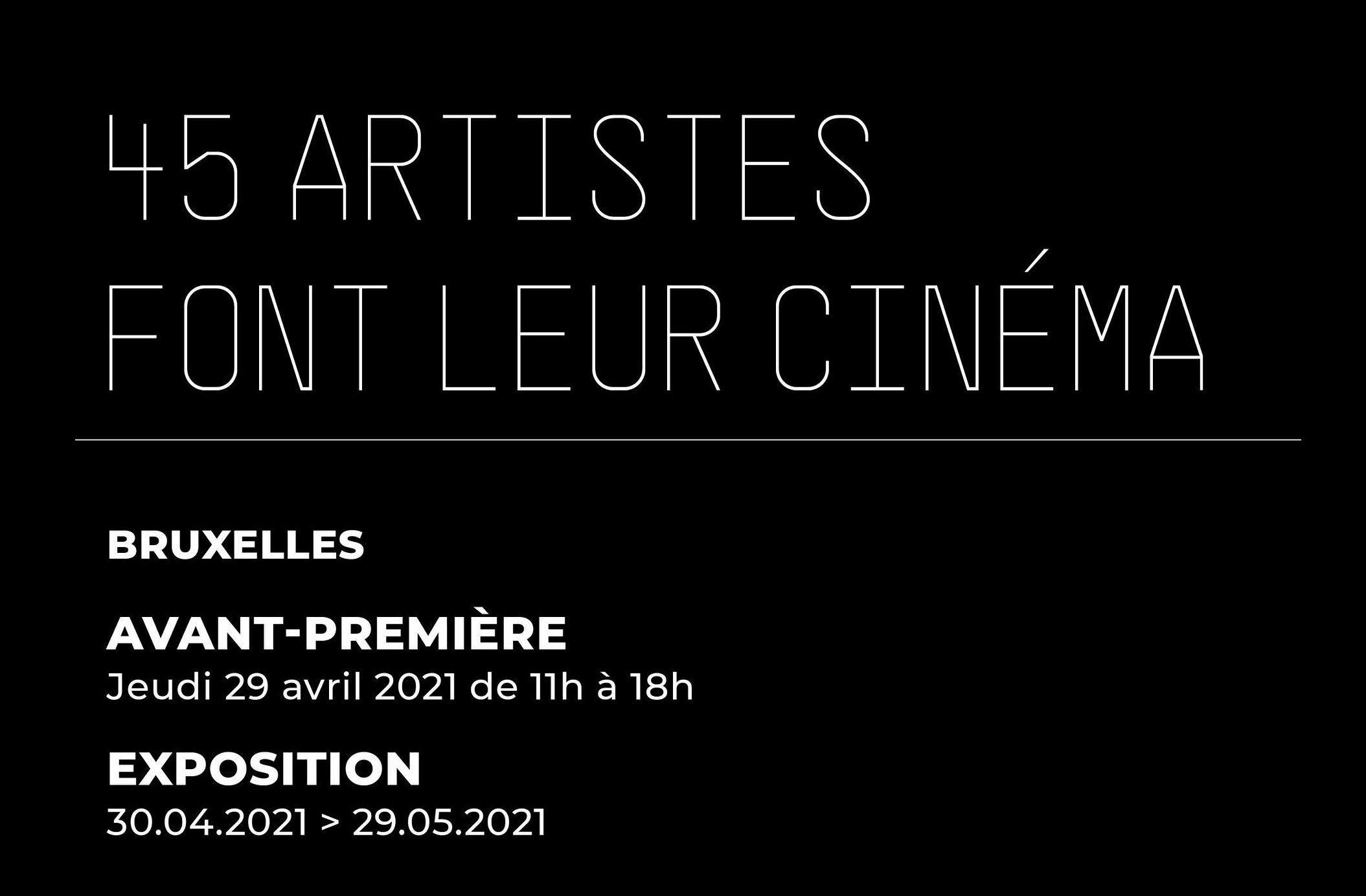 Exposition : 45 artistes font leur cinéma