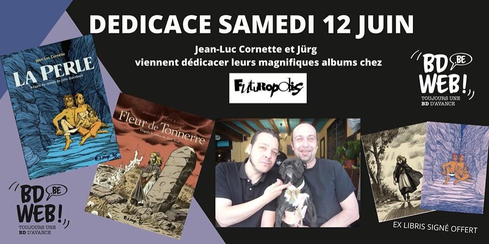 Jean-Luc Cornette etJürgen dédicaces chez BDweb