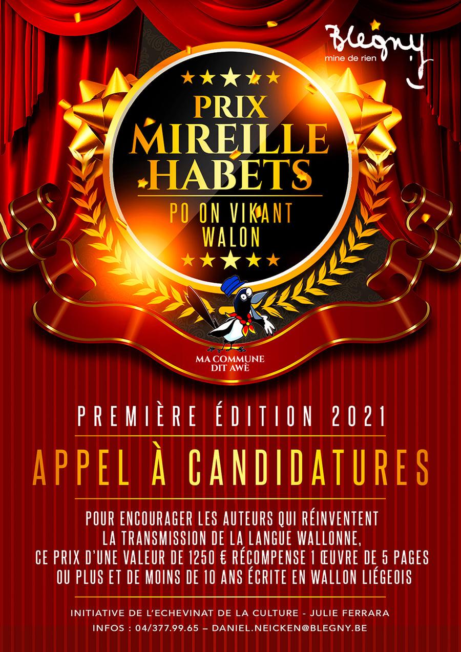 Première édition du Prix Mireille Habets : appel à candidatures