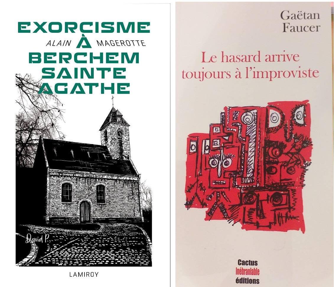 Alain Magerotte et Gaëtan Faucer en dédicace au Mot passant
