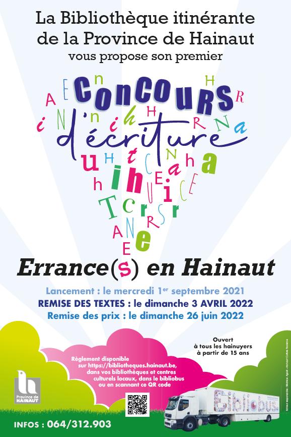 Concours d'écriture : Errance(s) en Hainaut.