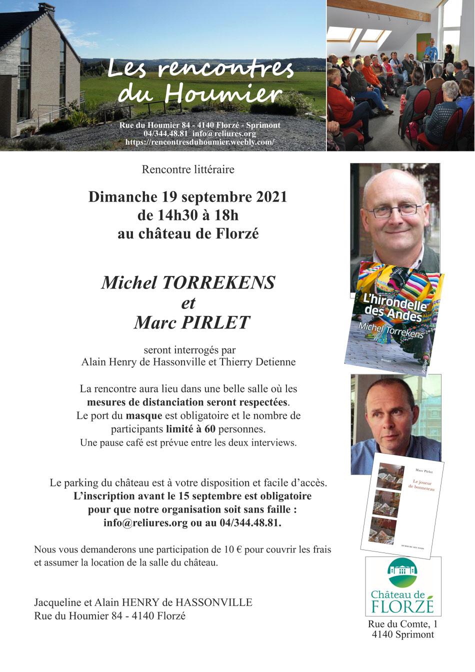 Rencontres du Houmier avec Michel Torrekens et Marc Pirlet